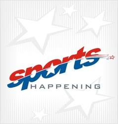 Sports text logo vector image vector image