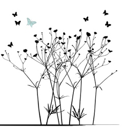 The meadow in summer time vector image vector image