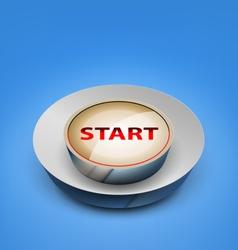 3d start button vector