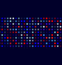 Abstract background from red blue white stars vector