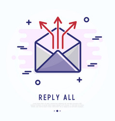 all reply thin line icon vector image