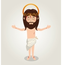 Ascension jesus christ crown desing vector