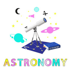 Astronomy poster and title vector