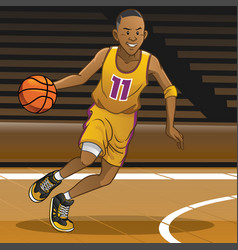 basketball player on action vector image