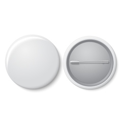 Blank white badge with place for your text vector