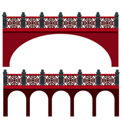 Bridge design in chinese style vector