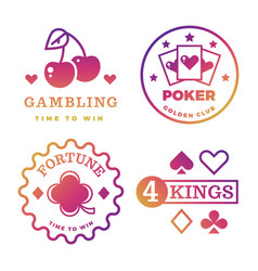 bright gambling casino poker royal roulette vector image