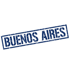 Buenos aires blue square stamp vector