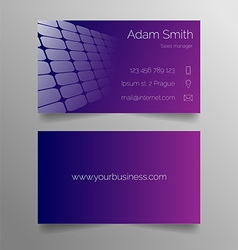 Business card template - modern purple design vector
