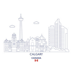calgary city skyline vector image