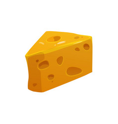 Cartoon emmental swiss cheese dairy food product vector