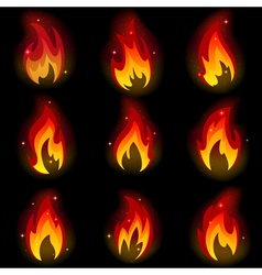 collection friezes from fire vector image