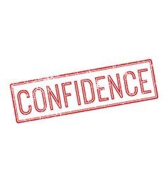 Confidence red rubber stamp on white vector