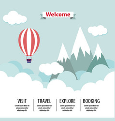 country travel template flat vector image