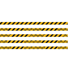 Covid-19 quarantine stripes seamless tape warning vector