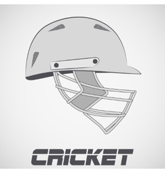 Cricket Helmet sketch vector