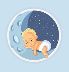 Cute basleeping cartoon vector