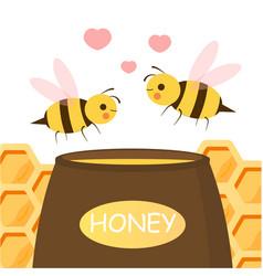 cute couple bee vector image