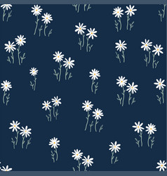 Cute ditsy floral seamless pattern hand drawn vector
