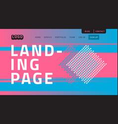 Desktop landing page for web website template vector