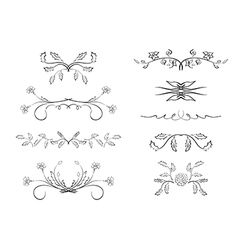 Dividers - elements with flowers vector