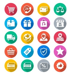 E-commerce flat color icons vector