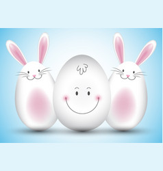 easter egg and bunny background vector image