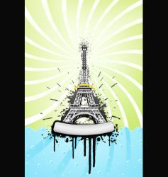 Eiffel tower grunge vector image
