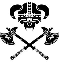 Fantasy viking helmet vector