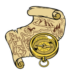 find treasure on map vector image