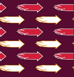 Flame arrow seamless pattern vector