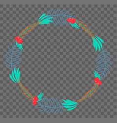 Flat botanical wreath vector