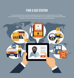 Fuel pump poster vector