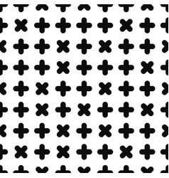 Geometric seamless pattern - memphis design black vector
