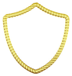 gold frame in the form of a rope vector image