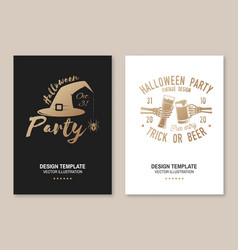 halloween party poster flyer template vector image