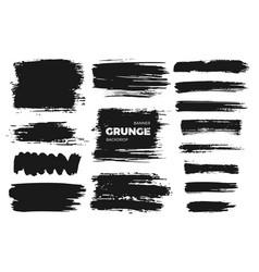 hand drawn gunge set abstract brush strokes vector image