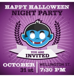 Happy Halloween Party Invitation vector image