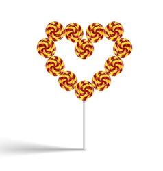 Heart lollypop vector