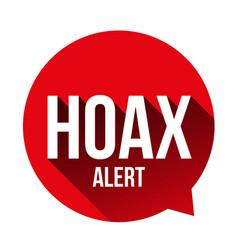 hoax alert speech bubble vector image