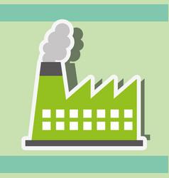 Industry factory power energy sticker vector