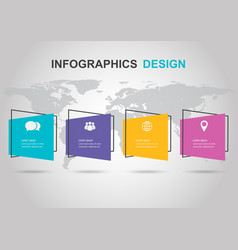infographic design template with flat banner vector image