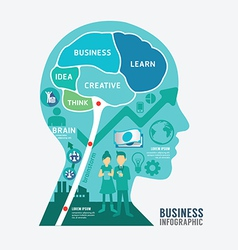 Infographics brain design business diagram templat vector