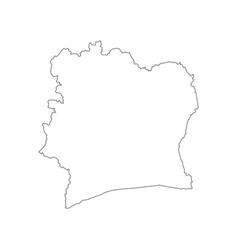 Ivory coast map vector