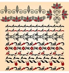 Linear seamless pattern vector