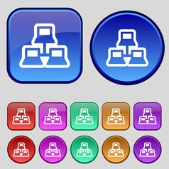 Local area network icon sign A set of twelve vector