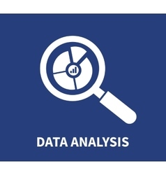 Magnifying glass data analysis vector