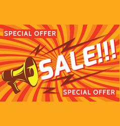 megaphone discounts and sales elements vector image