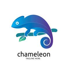 Modern chameleon logo design vector