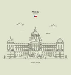 national museum in prague czech republic vector image